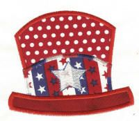 Free Patriotic Hat Applique Machine Embroidery Design