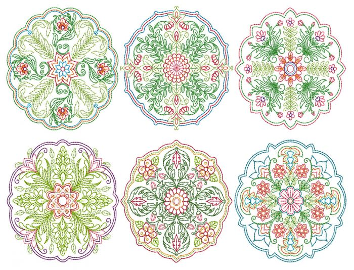 Floral Mandalas Colorwork 2