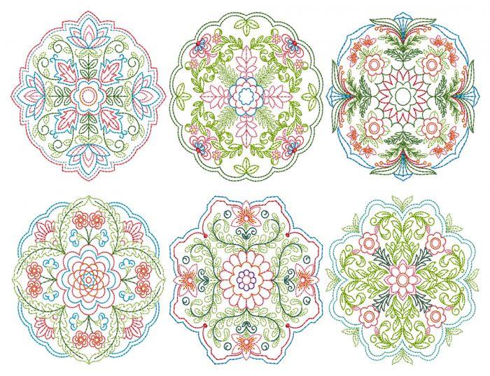 Floral Mandalas Colorwork 1