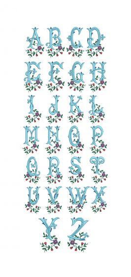 Fleur de Lis Monogram Machine Embroidery Designs by JuJu
