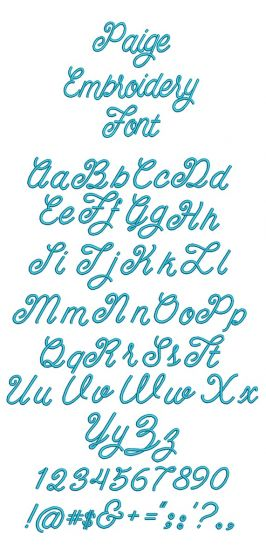 Paige Embroidery Font
