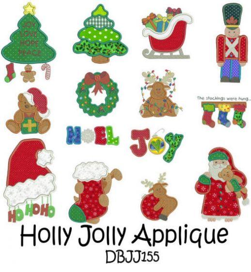 Holly Jolly Applique 5x7