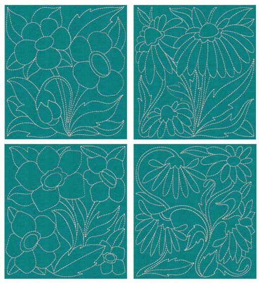 Wild Flower Quilt Blocks 2
