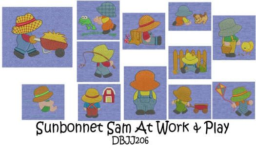 Sunbonnet Sam at Work and Play