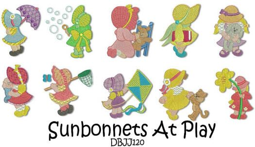 Sunbonnets at Play