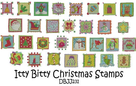 Itty Bitty Christmas Stamps