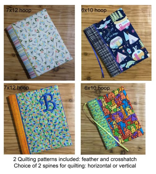 Designs by JuJu In The Hoop Machine Embroidery Designs Composition Notebook Cover Quilted Set 1