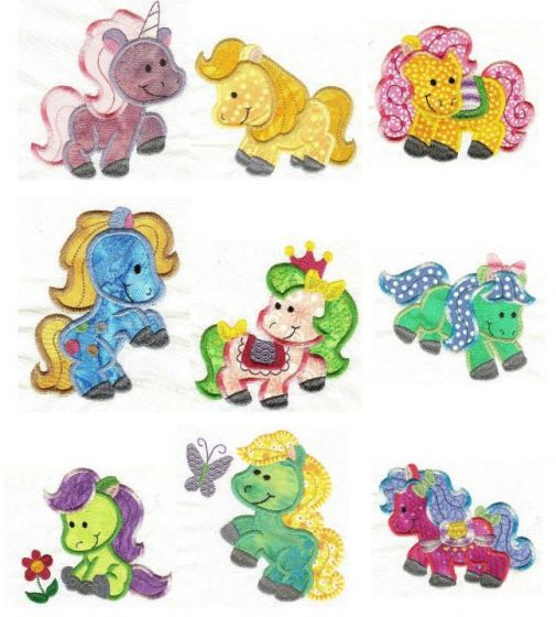 Pretty Ponies Applique