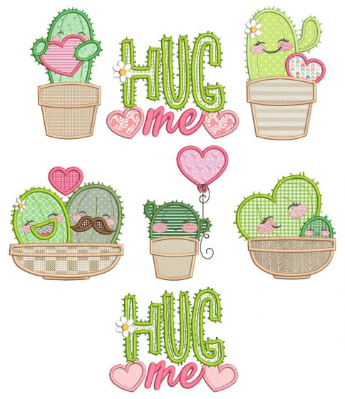 Cactus Love Machine Embroidery Designs By JuJu