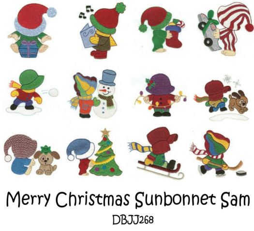 Merry Christmas Sunbonnet Sam