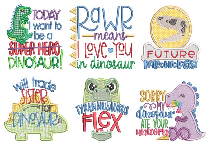 Dino Life Word Art