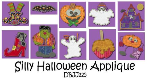 Not So Spooky Halloween Applique4x4 and 5x7