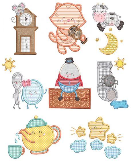 Nursery Rhyme Characters Applique
