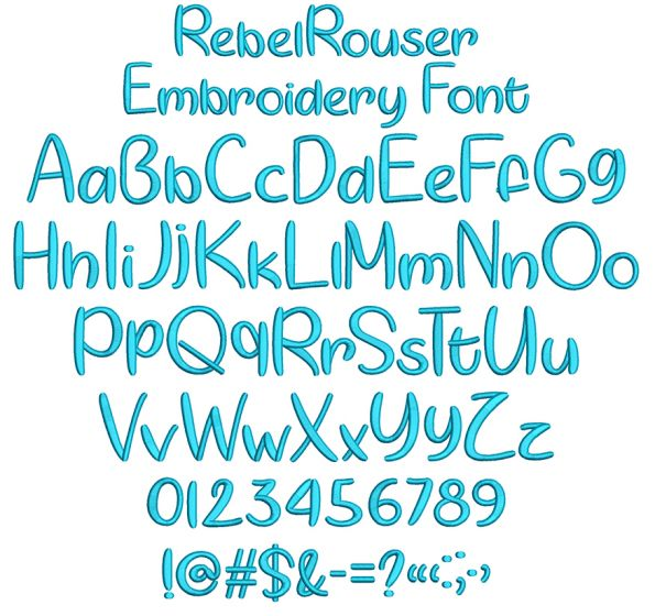 Rebel Rouser Embroidery Font Machine Embroidery Designs by JuJu