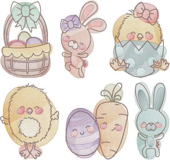 Happy Easter Pals Sketch