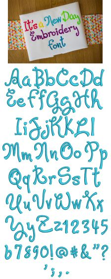 Its a New Day Embroidery Font Designs by JuJu Machine Embroidery Designs Monograms and Alphabets
