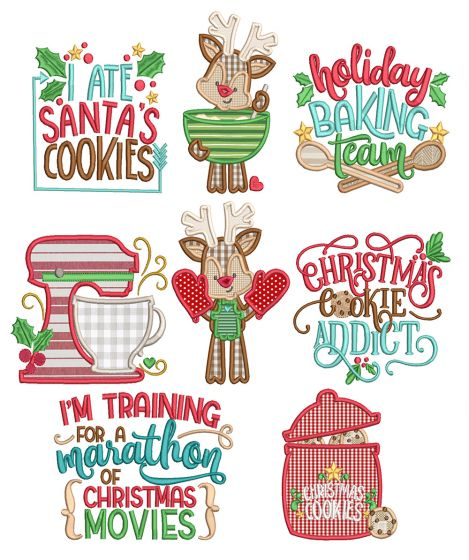 Christmas Baking Machine Embroidery Designs By JuJu