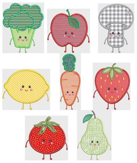 Cute Fruits And Veggies