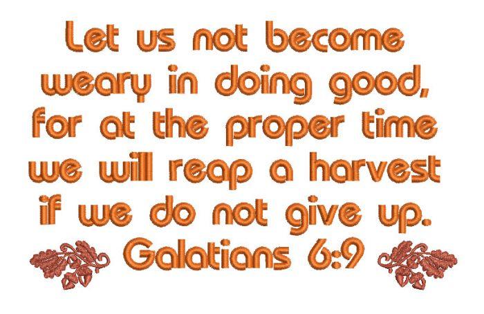 Galatians 6:9 alt