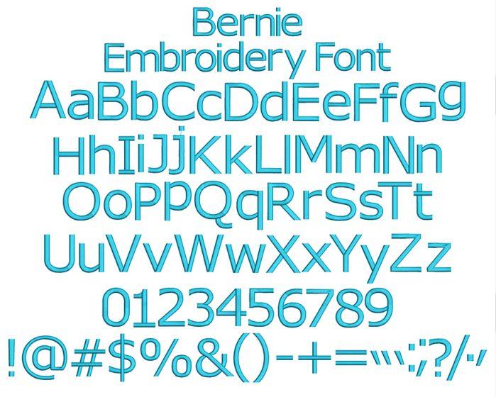Bernie Embroidery Font Machine Embroidery Designs by JuJu