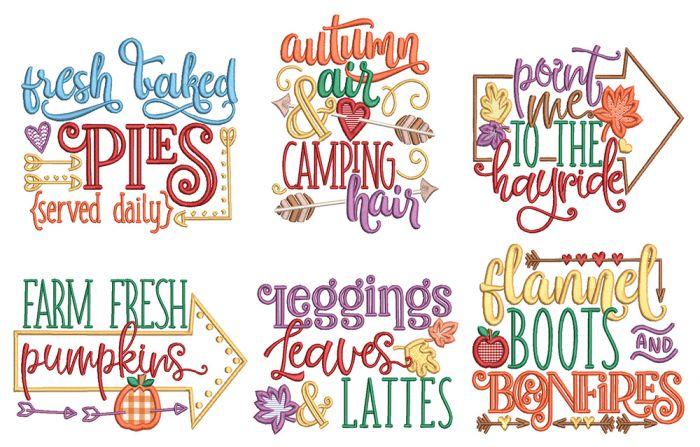 Autumn Days Word Art
