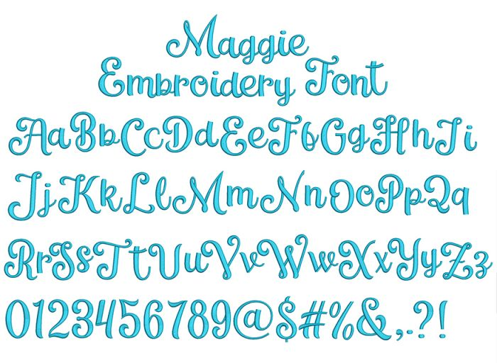 Maggie Embroidery Font