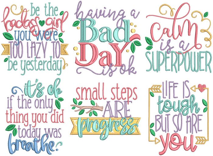 Stay Positive Word Art