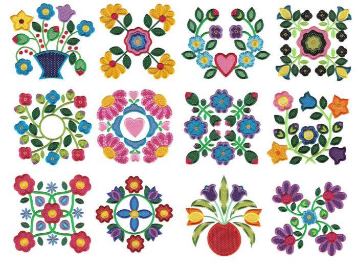 Simply baltimore album applique machine embroidery designs