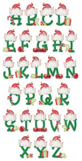 Christmas Elf Alphabet