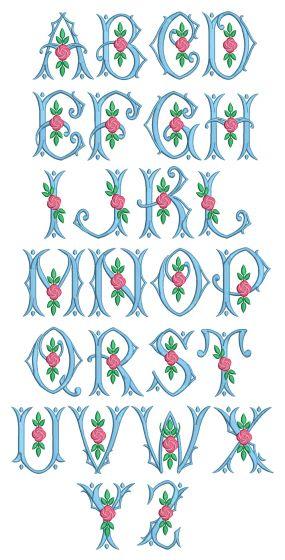 Jillian Monogram Machine Embroidery Designs By JuJu
