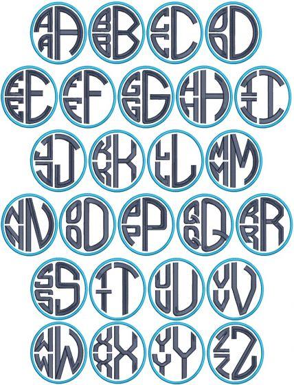 Circular Stacked Monogram