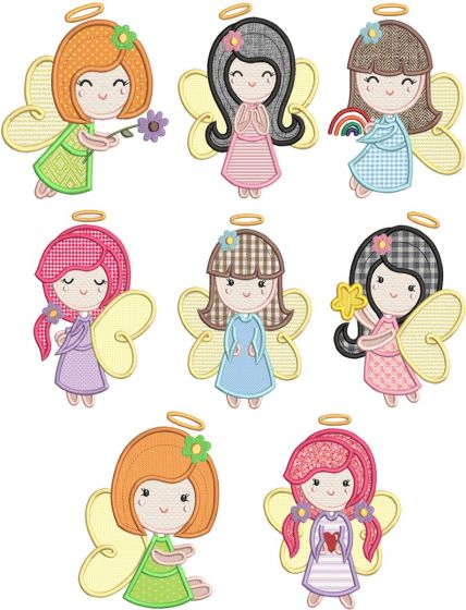 Girl Angels Applique