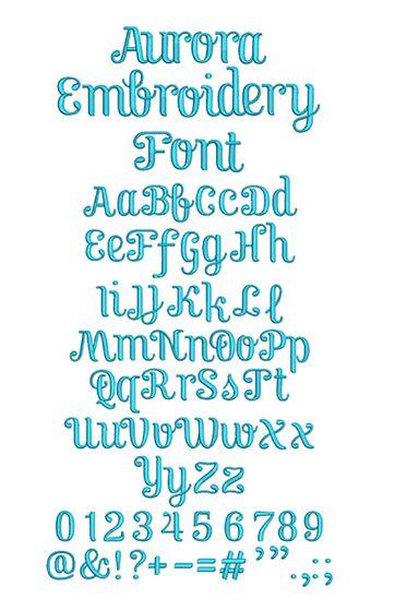 Aurora Embroidery Font Machine Embroidery Designs By JuJu