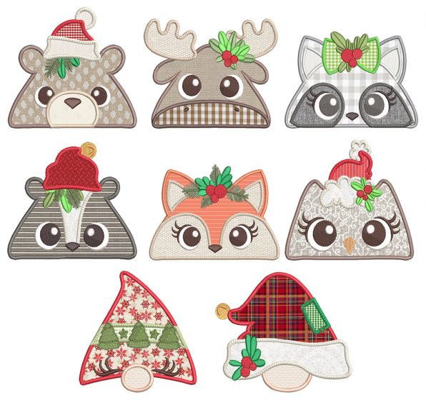 Christmas Forest Animal Toppers