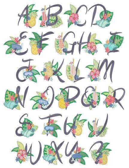 Tropical Applique Alphabet