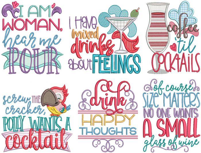 Sassy Cocktail Word Art