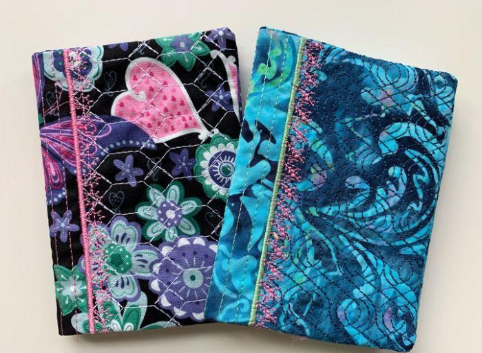 Mini Composition Notebook Covers In The Hoop Designs by JuJu Machine Embroidery Designs