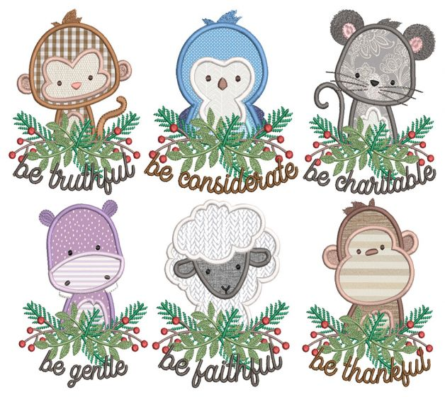 Be Kind Critters Applique 4