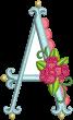 Scallop Rose Monogram Machine Embroidery Designs By JuJu