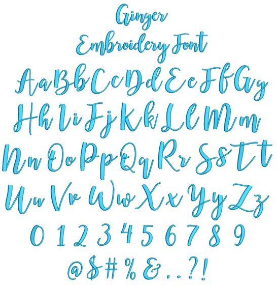 Ginger Embroidery Font