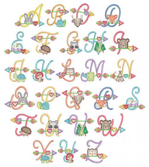 Tribal Baby Alphabet