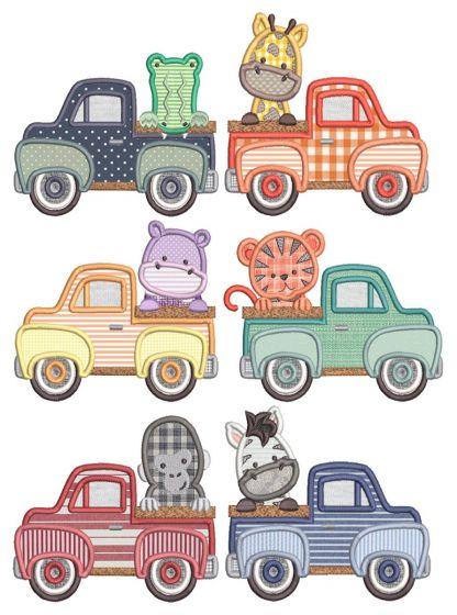 Vintage Trucks Jungle Animals