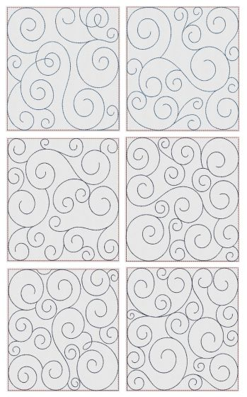 Swirly Quilt Blocks 3
