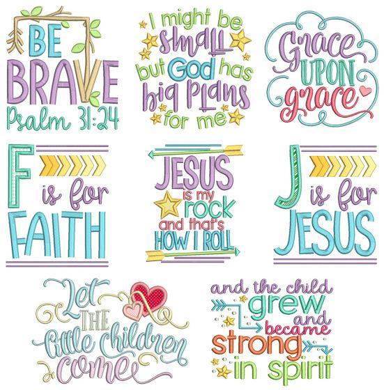 Kids Bible Sayings Machine Embroidery Designs By JuJu