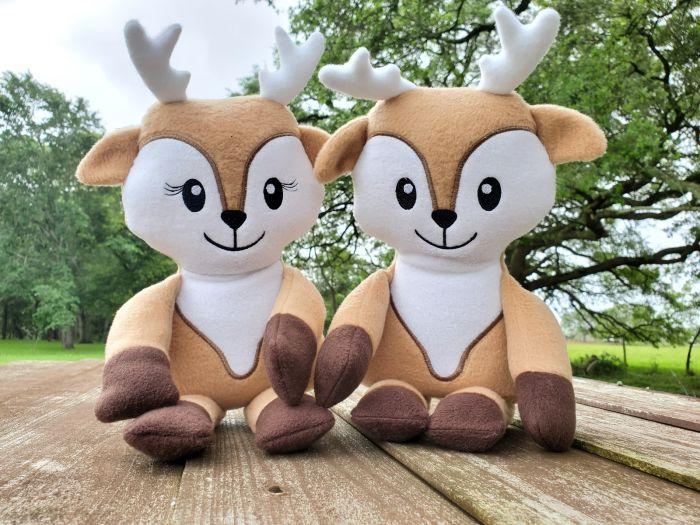 In The Hoop Cute Deer Softie Designs by JuJu Machine Embroidery Designs