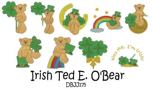 Irish Ted E. O'Bear