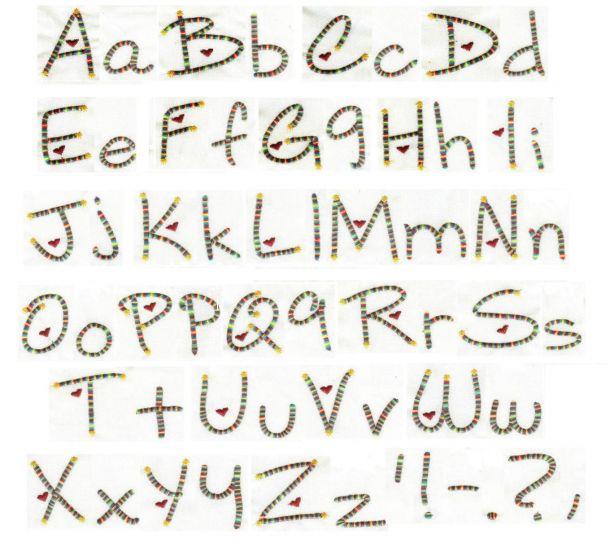 Heartstrings Alphabet