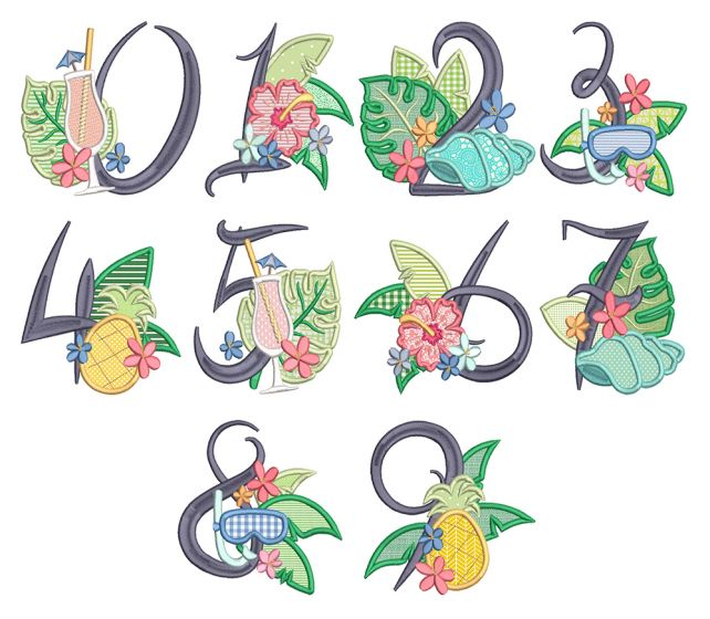 Tropical Applique Numbers