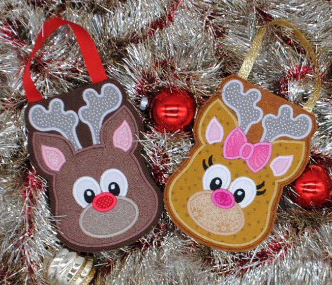 Designs by Juju In The Hoop Machine Embroidery Designs Reindeer Christmas Treat Bags