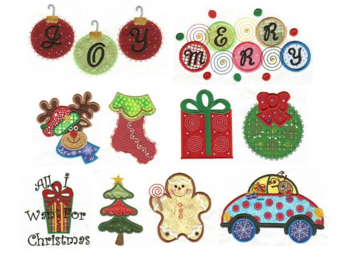 Christmas Whimsy Applique